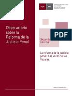 UNL - FCJS - Observatorio Reforma Justicia Penal - Segundo informe - Octubre 2015