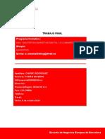 Trabajo Final Marketing Digital by Fabian E Charry -- Escuela de Negocios Europea de Barcelona