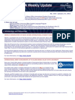 EdUSA Weekly Update No 216 -- 31 JAN 2011