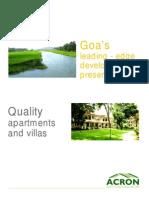 Acron Homes Goa  - Ebrochures