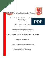 TAREA 3. RELACIÓN JURÍDICA DE TRABAJO