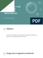 INGENIERÍA Y LAS DIFERENTES CORRIENTES INDUSTRIALES.
