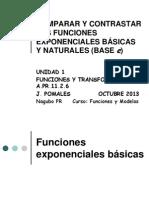 Comparar y Contrastar Funciones exponenciales básicas Version 2013