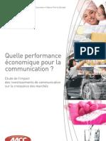 Quelle performance économique pour la communication ?