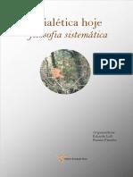 Dialética Hoje Filosofia Sistemática Dossiê 2019
