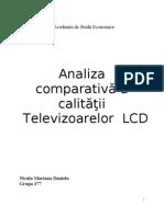 Analiza Comparativa a Calitatii Televizoarelor LCD