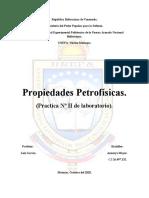 Laboratorio II- Propiedades petrofisicas