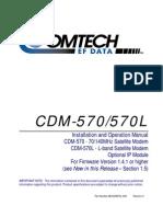 Buku Modul Panduan modem comtech EF Data CDM-570570L