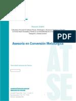 Reporte M2 Asesoría en Conversión Metalúrgica