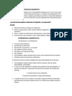 DEFINICION DE DIAGNOSTICO