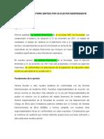 NIA 800 - LIMPIO-EST FINANC - Marco de cumplimiento son criterios FISCALES - Énfasis Base contable y restricción