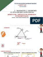 Triángulos-Teoremas fundamentales-IV ciclo.GeomS3