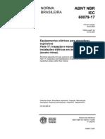 NBR IEC 60079-17 - 2005 - Equipamentos elétricos para atmosferas explosivas - Parte 17 -