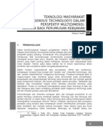 B1 Teknologi Masyarakat (Indigenous Technology) - Tatang AT