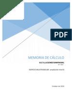 Memoria de cálculo Edificio Multifamiliar mayorasgo FINALAMPLIACION