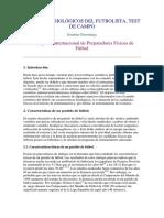 ASPECTOS FISIOLÓGICOS DEL FUTBOLISTA, TEST DE CAMPO de Gorostiaga