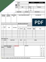 Shift Handover Form