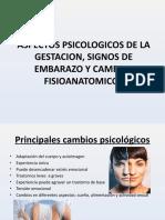 ASPECTOS SICOLOGICOS DE LA GESTACION