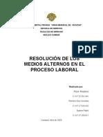 solucion judicial de los conflictos laborales