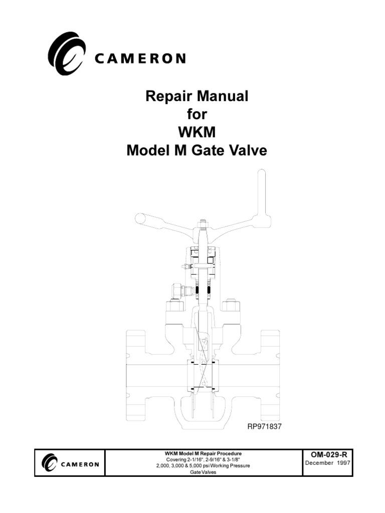 Repair Manual for WKM Model M Gate Valve