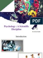 Psychology a Scientific Discipline