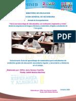 Solucionario Guía de aprendizaje matematica11mo grado 2020