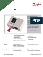 Pressure switch type KP , Danfoss