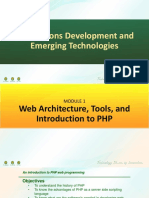 Main PDF 1 - Web Architecture, Tools, and Introduction to PHP.pdf