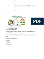 ELABORACIÓN DE MATERIAL PARA ESTIMULACIÓN DEL LENGUAJE