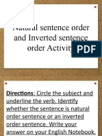 Natural sentence order and Inverted sentence order Activity.pptx