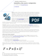 Entendendo a matemática dos juros compostos _ Educação Financeira _ Dinheirama - Economia, Investimentos e Educação Financeira