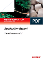 Yarn Evenness CV
