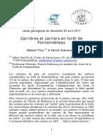 Carrières et carriers en forêt de Fontainebleau