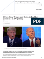 US election_ Trump and Biden deflect key questions in TV grilling - BBC News