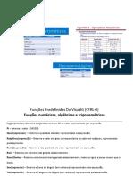 Operadores e funções predefinidas