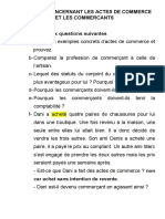 DROIT COMMERCIAL EXERCICES 1