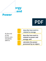 Work - Energy Theorem and Power
