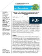 Response of Bermuda Grass (Cynodon Dactylon) Growth Under Elevated Temperature and Moisture Stress Condition