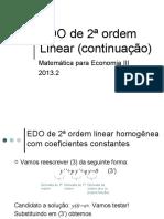 EDO 2a Ordem Linear