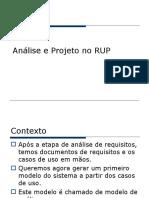 Analise e Projecto (Desenho)RUP