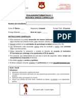 E. Formativa N° 1_Unidad II_Lenguaje_6° Básico_validada