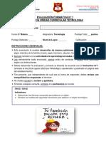 E. Formativa N° 1_Unidad II_Tecnologia_6° Básico A-B