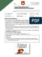 E. Formativa N° 1_Unidad II_Artes Visuales_6° Básico A