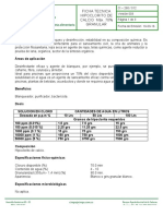 Ficha técnica hipoclorito de calcio granulado