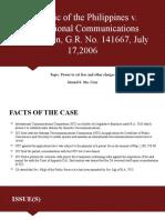 7. Republic v. International Communications Corporation, G.R. No. 141667, July 17, 2006