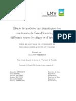 Étude de modèles mathématiques des condensats de Bose-Einstein pour différents types de pièges et d'interactions - jimena Royo-Letelier