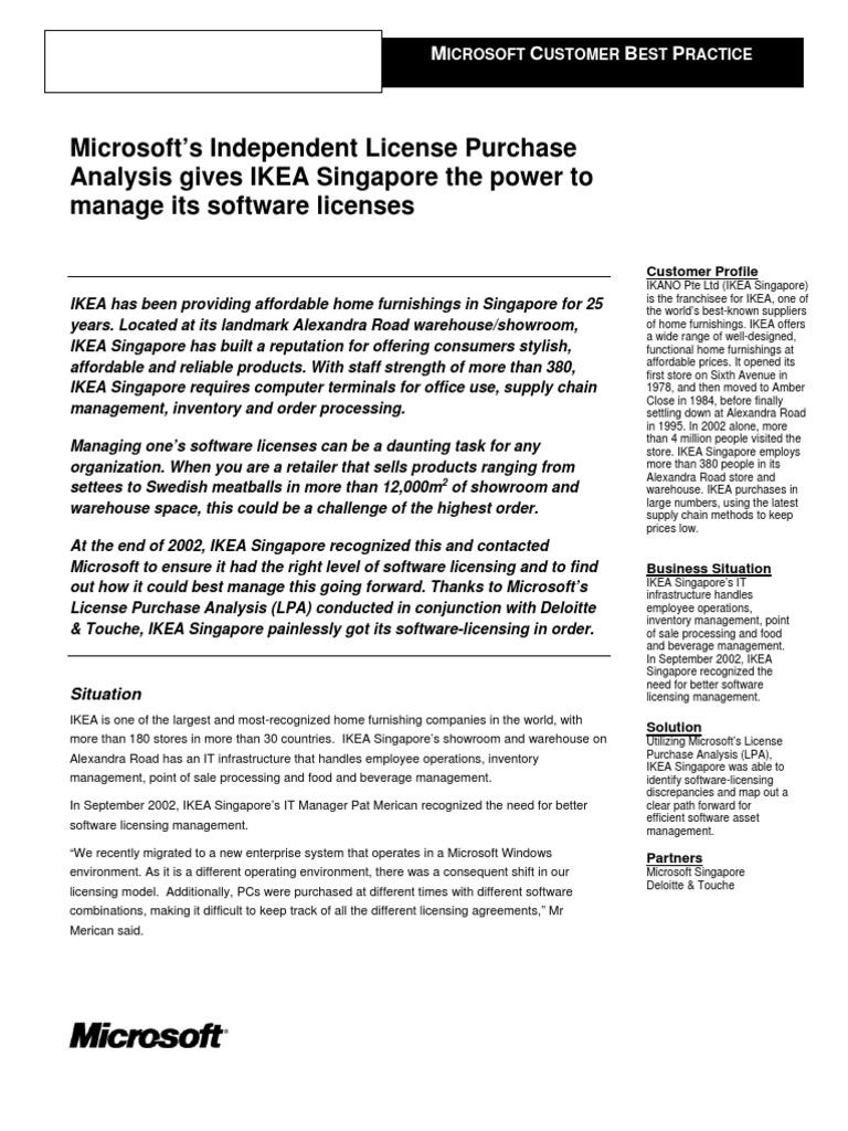 Singapore-Ikea | Retail | Audit