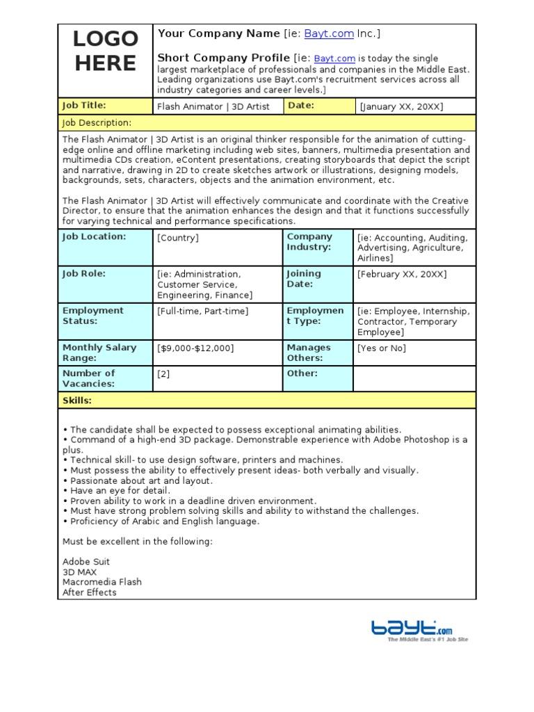 job description of an animator resignation letter to clients 1509415164 job description of an animatorhtml - Job Description Of An Animator