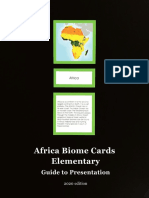 Africa Biome Cards - Elementary Guide 2020 edition