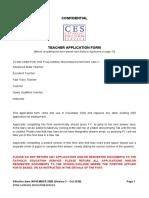Teacher Application Form